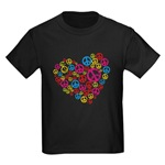 peace sign in heart t-shirt